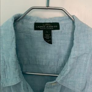 A Lauren Jeans Co. linen button down shirt